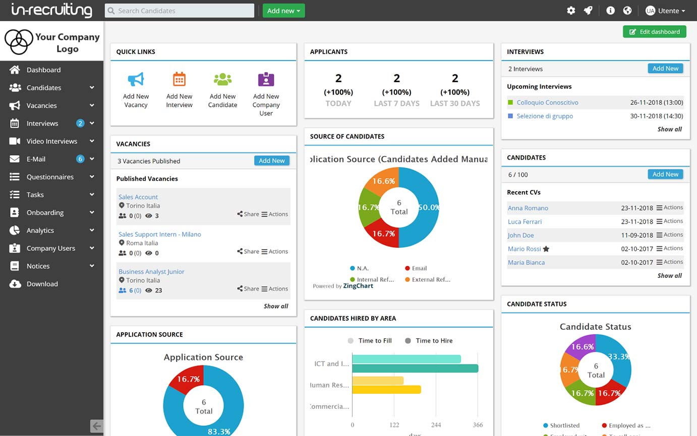 In-Recruiting Application Tracking System for The Recruitment Software for Growing Companies